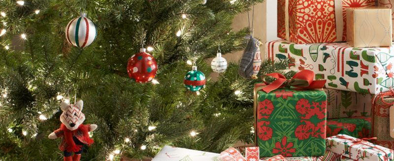 Christmas Tree with Ornaments and Presents