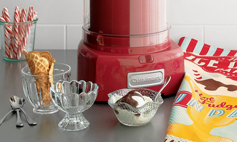 Red Cuisinart Ice Cream maker