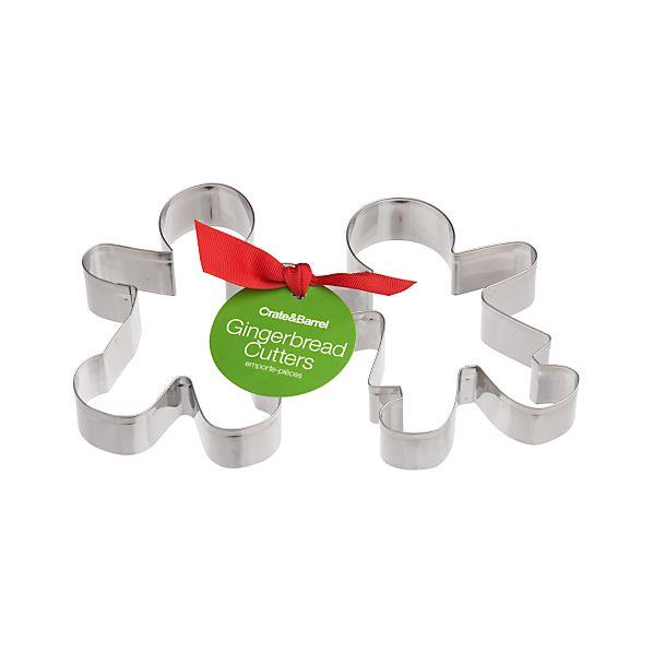 2-Piece Gingerbread Cookie Cutter Set