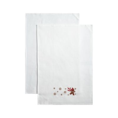 Set of 2 Gingerbread Man Dishtowels