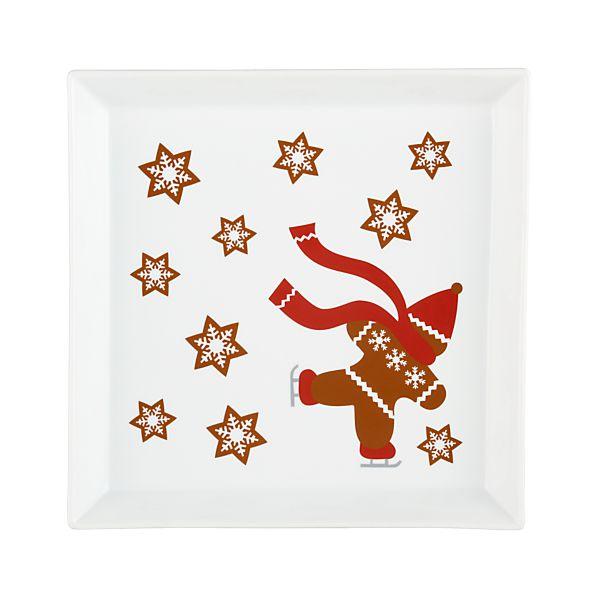 """Gingerbread Man 12"""" Platter"""