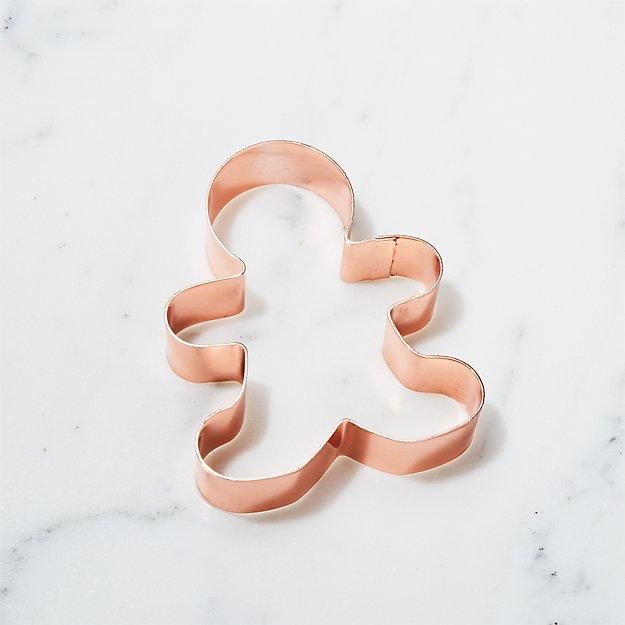 Copper Gingerbread Man Cookie Cutter