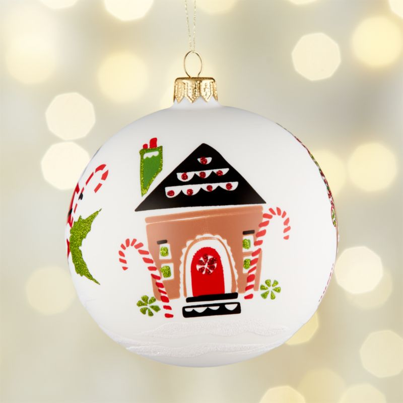 Gingerbread House Ball Ornament