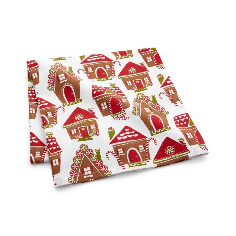 Gingerbread House Dish Towel