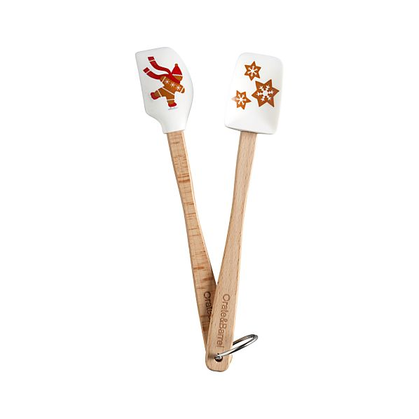 2-Piece Mini Gingerbread Man Spatula Set