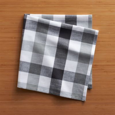Gingham Black-White Napkin