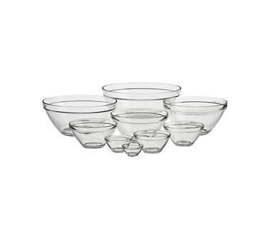 Crate and Barrel - Nine-Piece Glass Bowl Set shopping in Crate and Barrel Kitchen-Accessories
