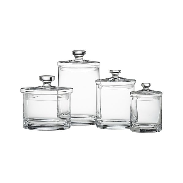 Set of 4 Glass Canisters