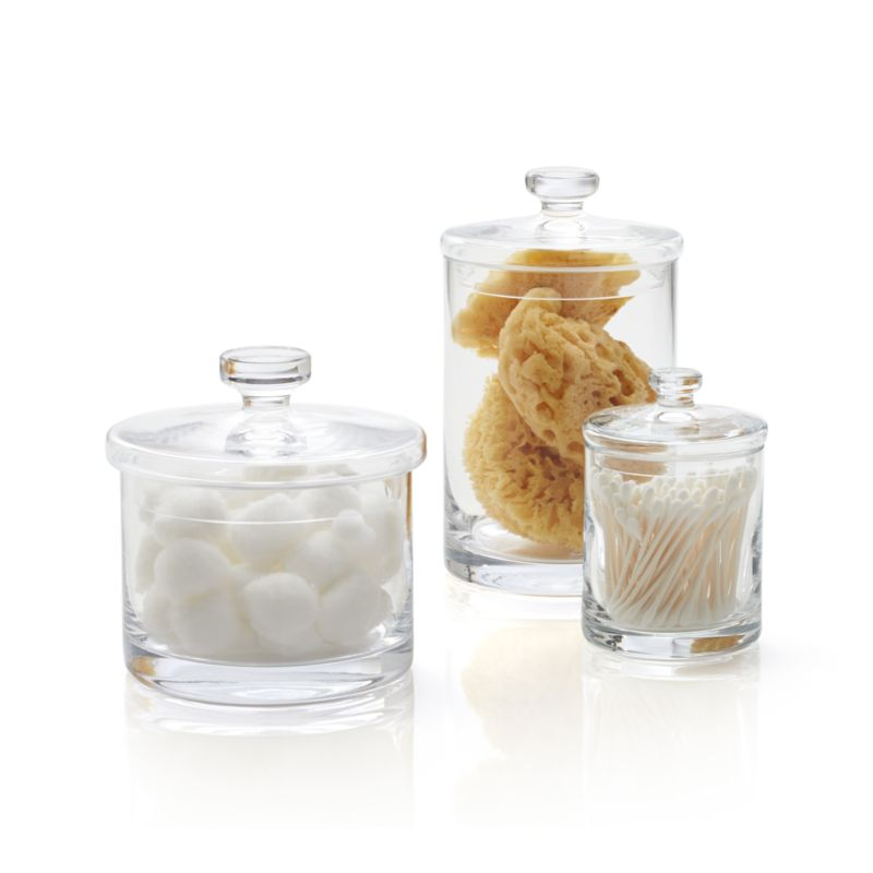 Set of 3 Glass Canisters