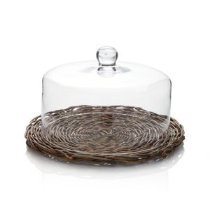 Glass Dome with Woven Base