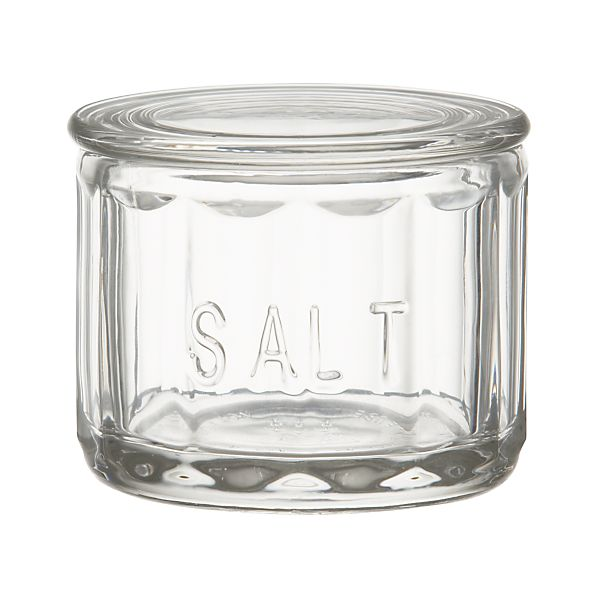 Glass Salt Cellar with Lid