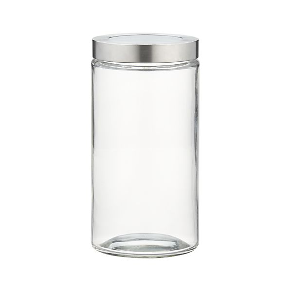 Medium Glass Storage Container with Stainless Steel Lid