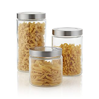 Glass Storage Containers with Stainless Steel Lids