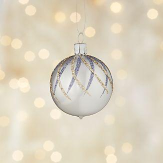 Glitter Diamond Silver Ball Ornament
