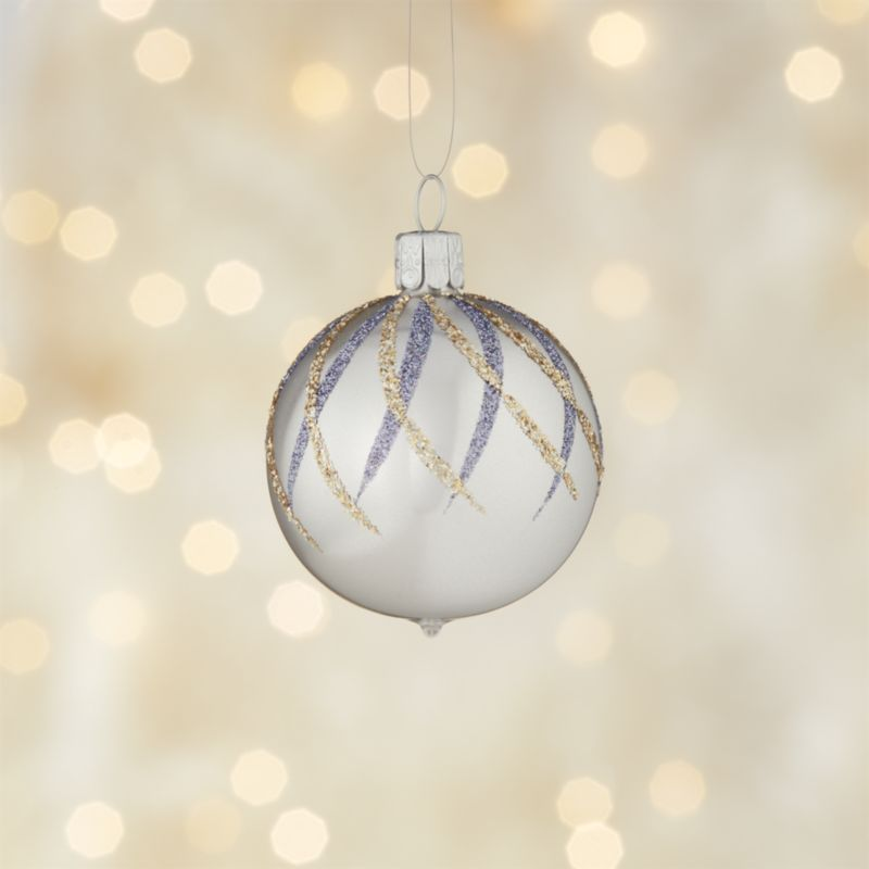 Glitter Diamond Silver Ball Ornament