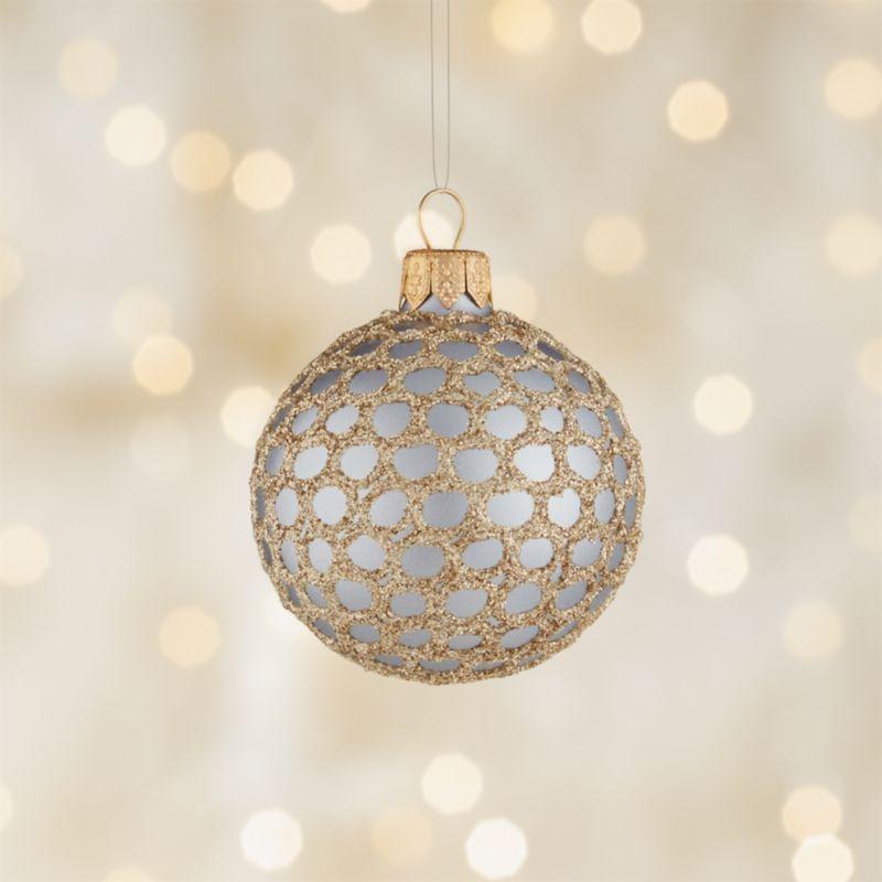 Glitter Fishnet Lavender Ball Ornament