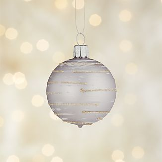 Glitter Flurry Line Lavender Ball Ornament