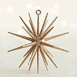 Gold Glitter 3D Star Ornament