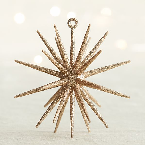 Gold Glitter 3D Star Ornament