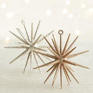 Glitter 3D Star Ornaments