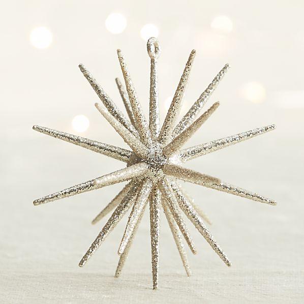 Silver Glitter 3D Star Ornament