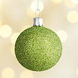 Glitter Ball Green Ornament