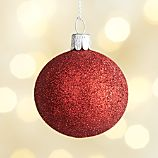 Glitter Ball Red Ornament