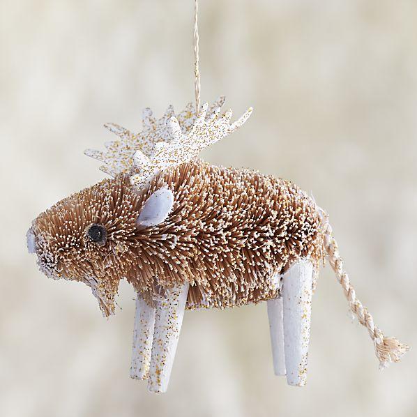 Glitter Buri Moose Ornament