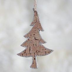 Skinny Glitter Cork Tree Ornament
