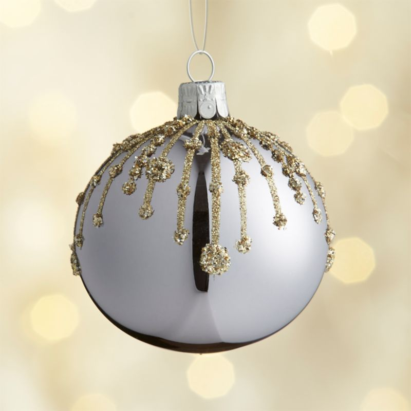 Glitter Drip Lavender Ball Ornament