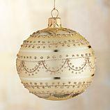 Glitter Garland Gold Ball Ornament
