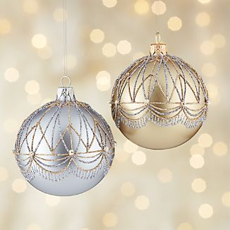 Glitter Gatsby Ball Ornaments