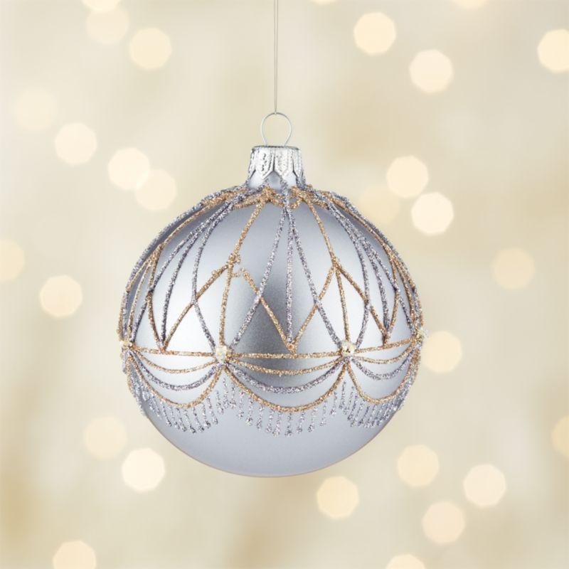 Glitter Gatsby Lavender Ball Ornament