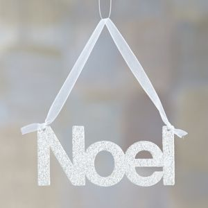 Glitter Greetings Noel Ornament