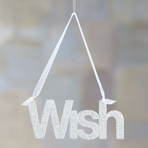 Glitter Greetings Wish Ornament