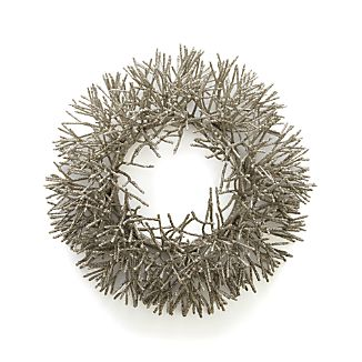 Silver Glitter Wreath