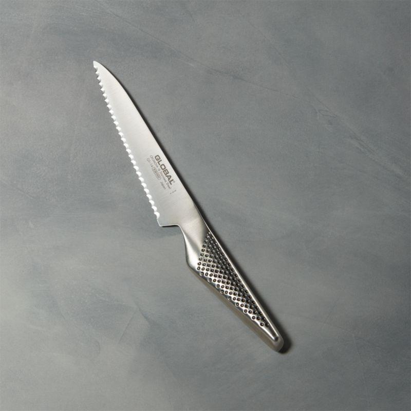 """Global ® 6"""" Serrated Utility Knife"""