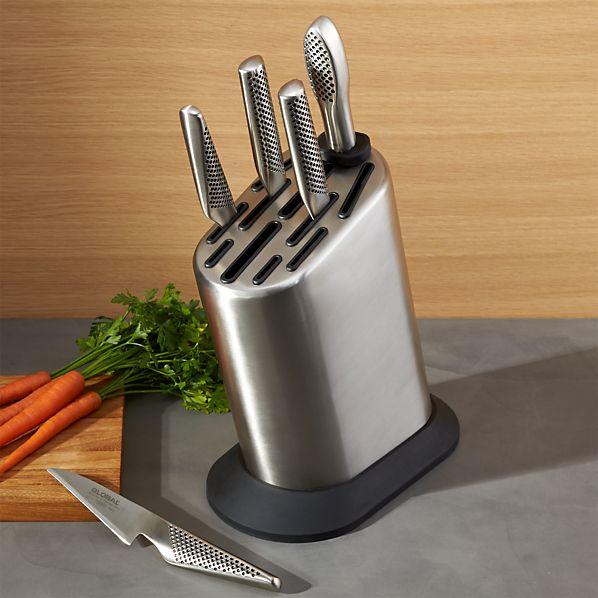Global ® 6-Piece Knife Block Set