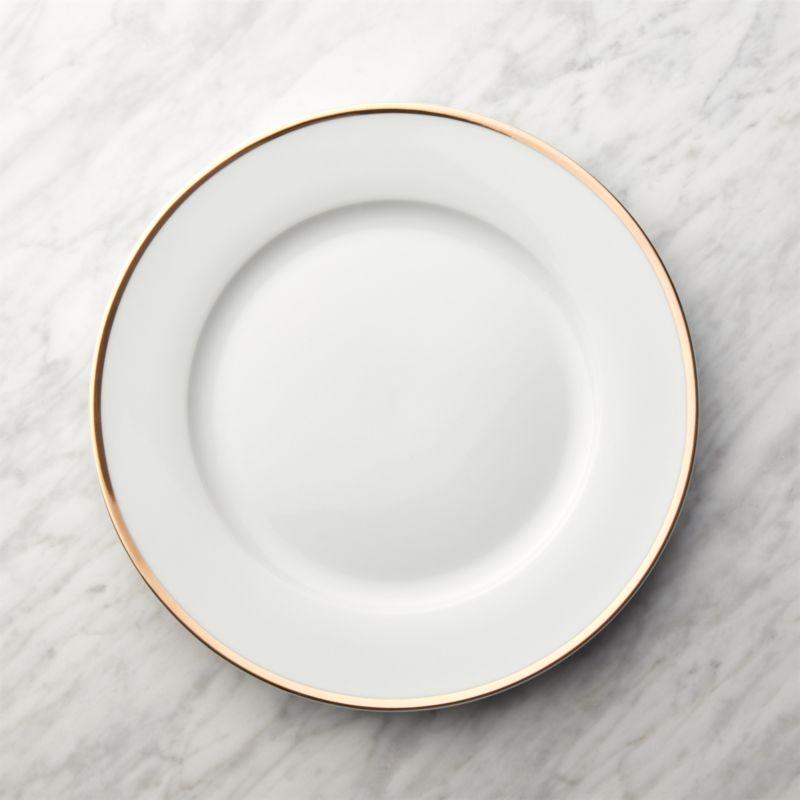 Gold Rim Buffet Plate