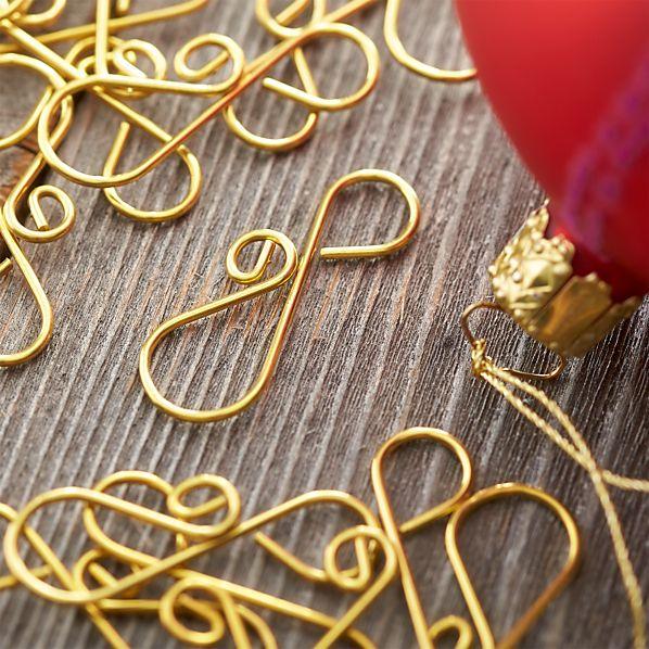 Set of 20 Scroll Ornament Hooks