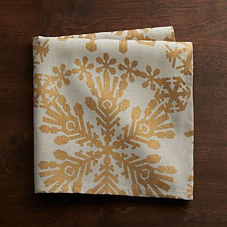 Golden Snowflake Cloth Napkin