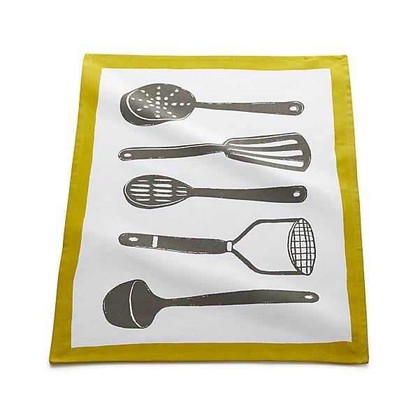 Gourmet Utensils Dish Towel