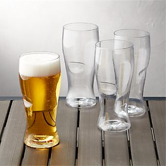 Govino ® Shatterproof Plastic Beer Glasses Set of 4