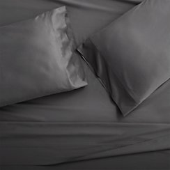 Set of 2 Grace Charcoal Standard Pillow Cases