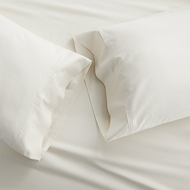Set of 2 Grace Ecru Standard Pillow Cases
