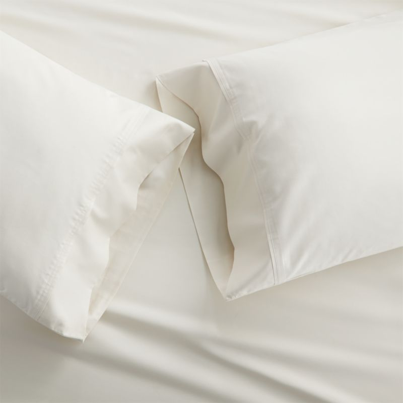Set of 2 Grace Ecru Standard Pillow Cases
