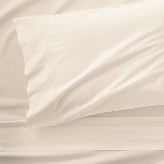 Grace Sateen Ivory Twin Sheet Set