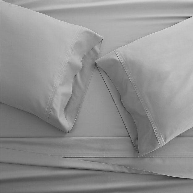 Grace Silver Sheets and Pillow Cases