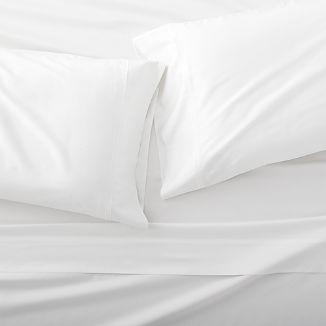 Grace Sateen White Sheet Set