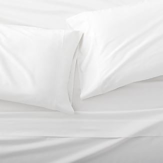 Grace Sateen White Sheet Set